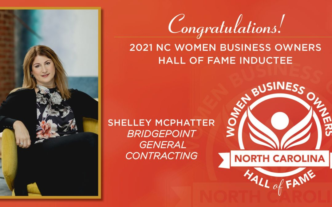 Shelley McPhatter Inducted Into NC Women Business Owners Hall of Fame