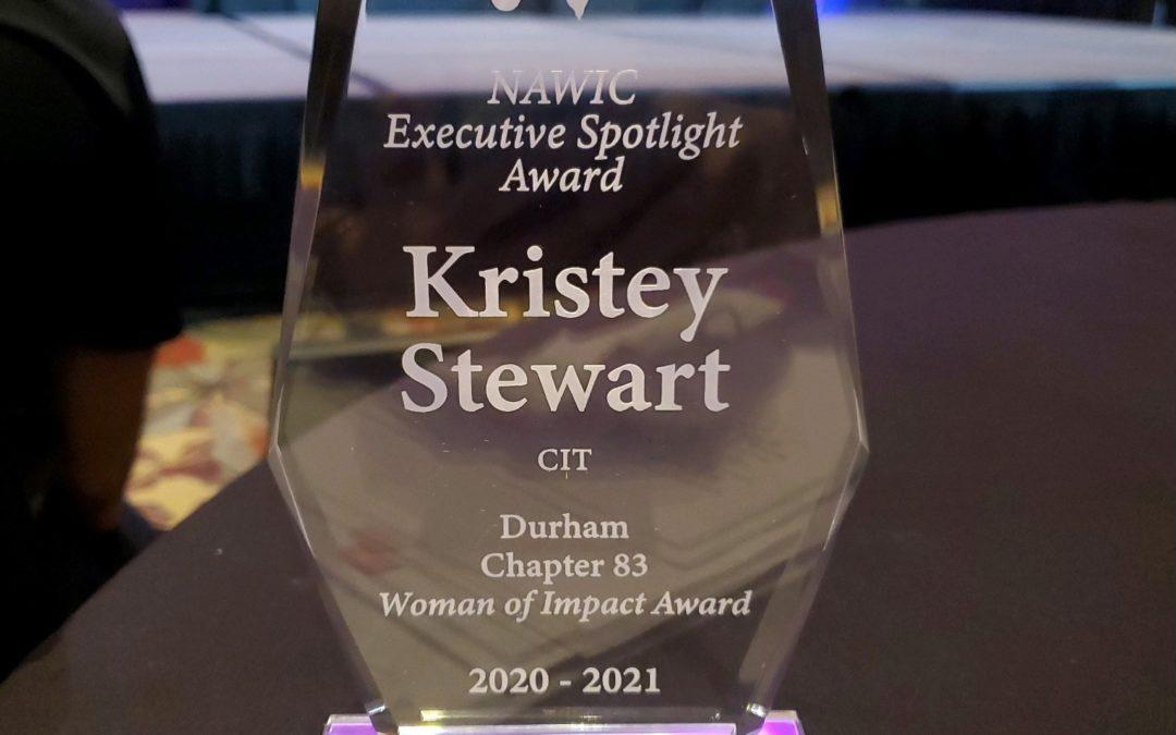 Kristey Stewart Wins 2021 National Woman of Impact Award